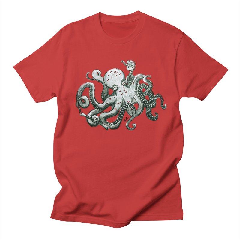 Deep Dive Octopus (Designed by Rogue Duck Studio) Women's Regular Unisex T-Shirt by Augie's Attic