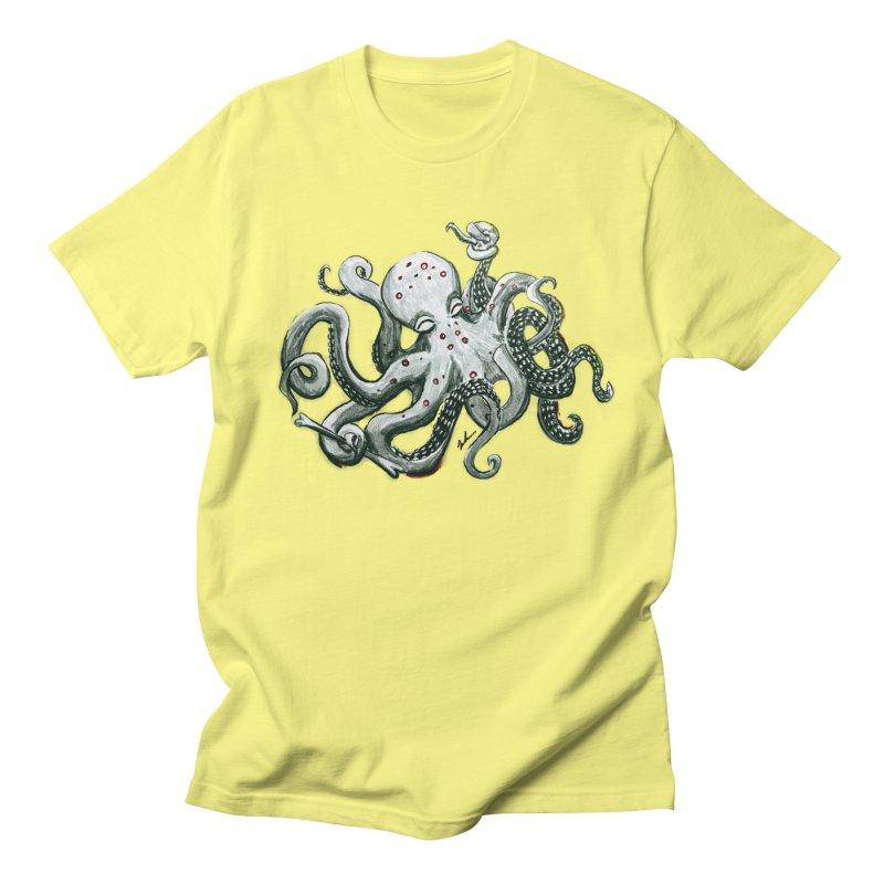 Deep Dive Octopus (Designed by Rogue Duck Studio) Men's Regular T-Shirt by Augie's Attic