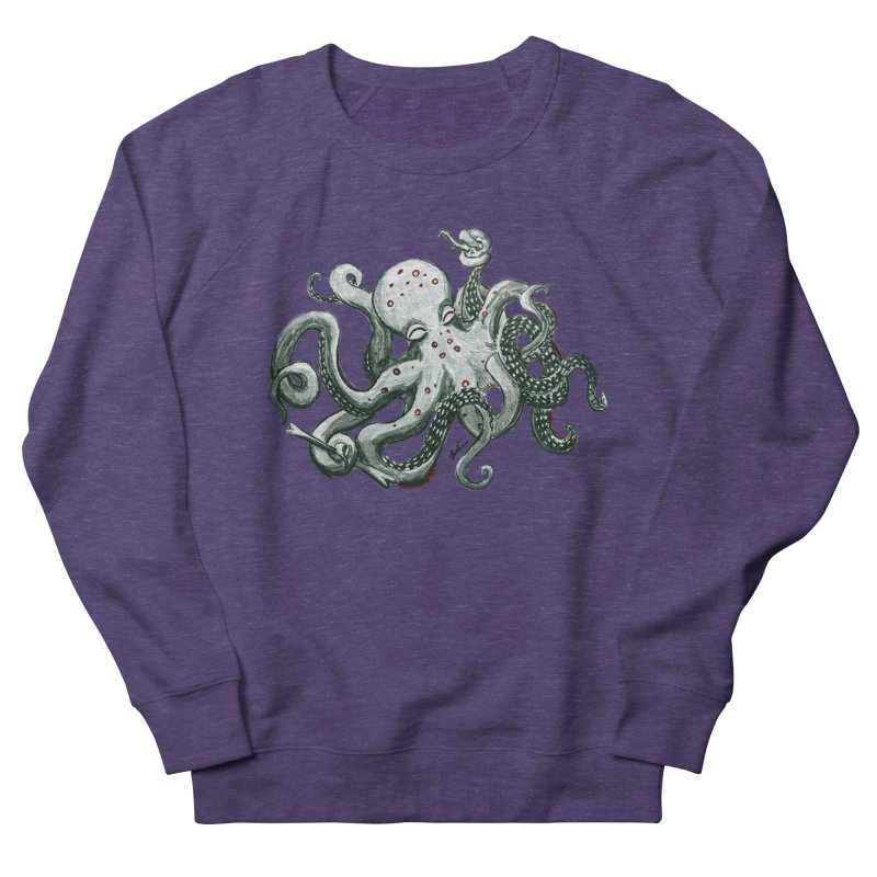 Deep Dive Octopus (Designed by Rogue Duck Studio) Women's French Terry Sweatshirt by Augie's Attic