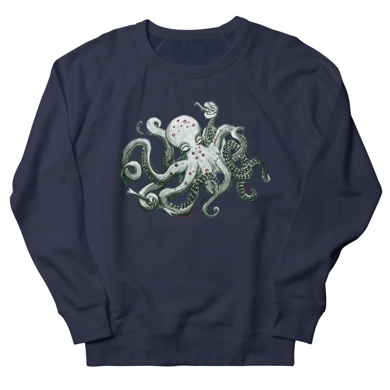 Deep Dive Octopus (Designed by Rogue Duck Studio) Men's French Terry Sweatshirt by Augie's Attic