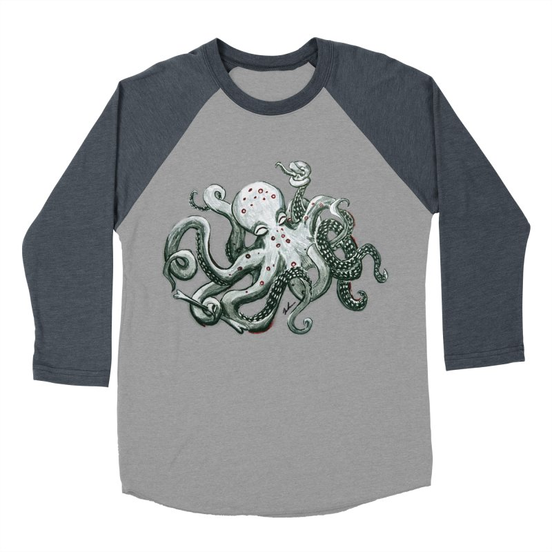 Deep Dive Octopus (Designed by Rogue Duck Studio) Women's Baseball Triblend Longsleeve T-Shirt by Augie's Attic