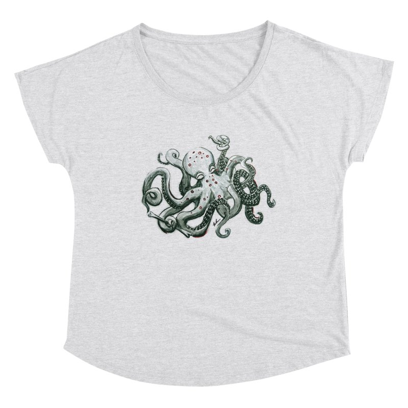 Deep Dive Octopus (Designed by Rogue Duck Studio) Women's Dolman Scoop Neck by Augie's Attic
