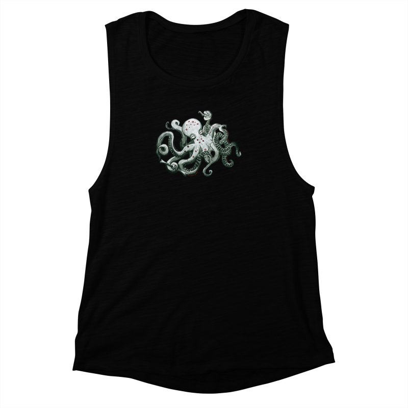Deep Dive Octopus (Designed by Rogue Duck Studio) Women's Muscle Tank by Augie's Attic