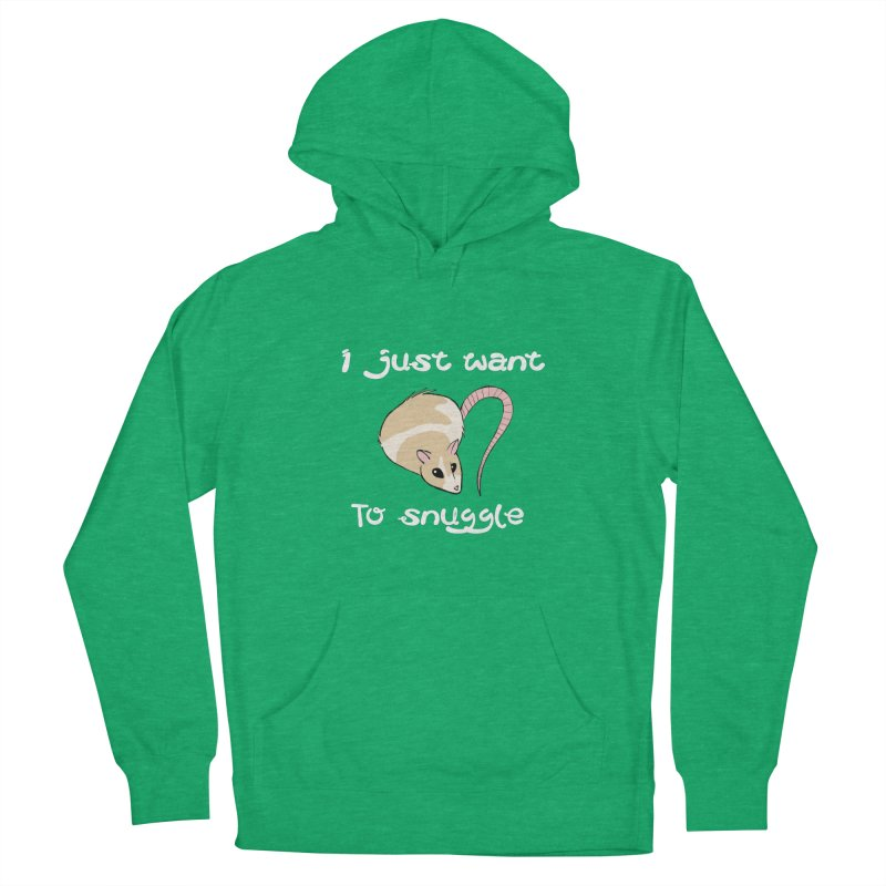 I just want to snuggle (dark colors) Women's French Terry Pullover Hoody by Augie's Attic