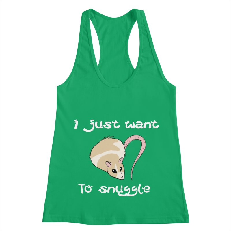 I just want to snuggle (dark colors) Women's Racerback Tank by Augie's Attic