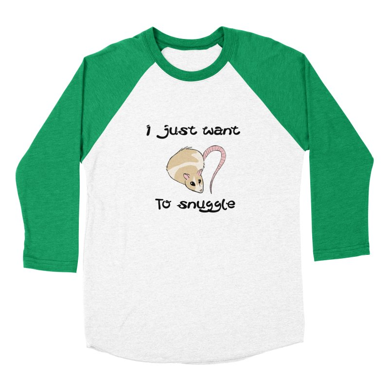 I just want to snuggle (light colors) Men's Baseball Triblend Longsleeve T-Shirt by Augie's Attic