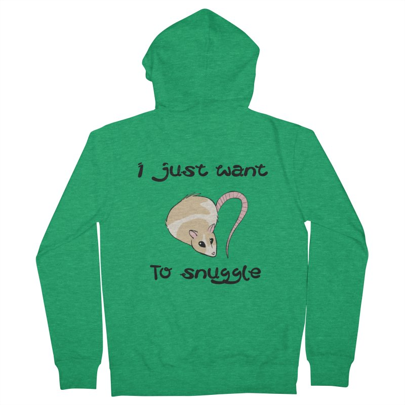 I just want to snuggle (light colors) Women's French Terry Zip-Up Hoody by Augie's Attic