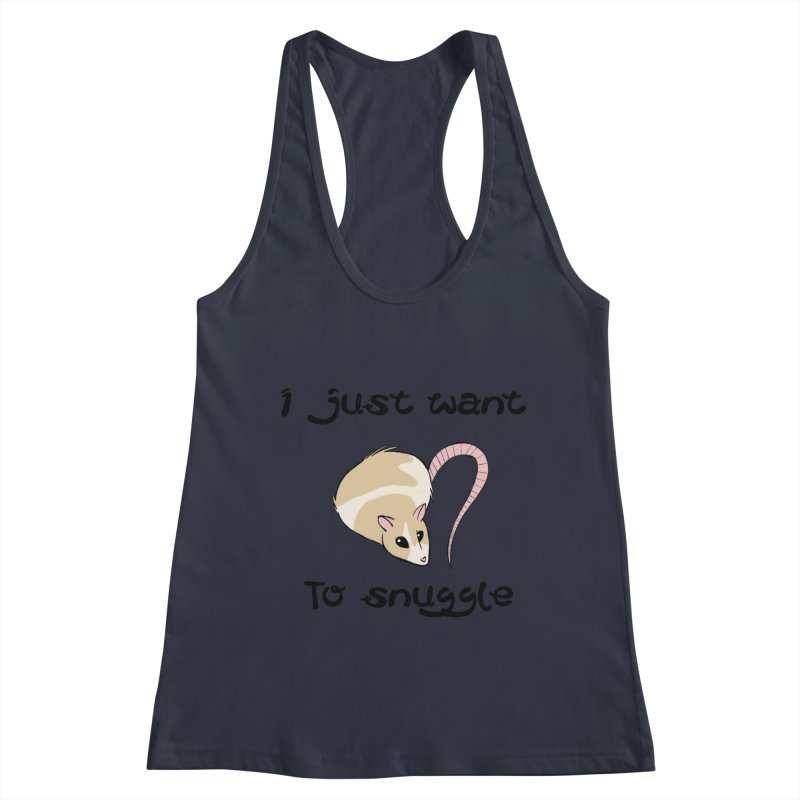 I just want to snuggle (light colors) Women's Racerback Tank by Augie's Attic