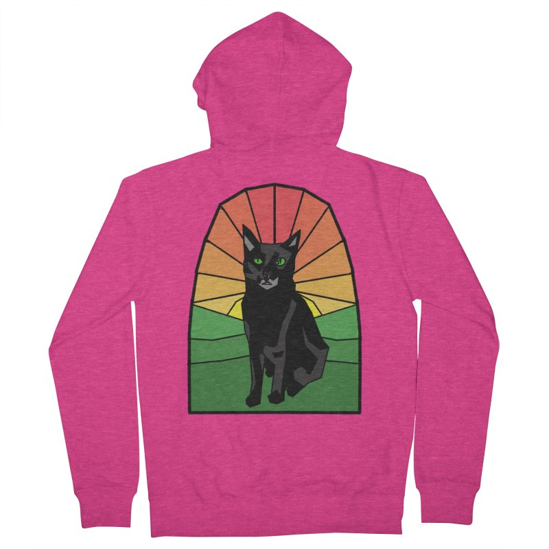 Pumpkin Stained Glass Women's French Terry Zip-Up Hoody by Augie's Attic