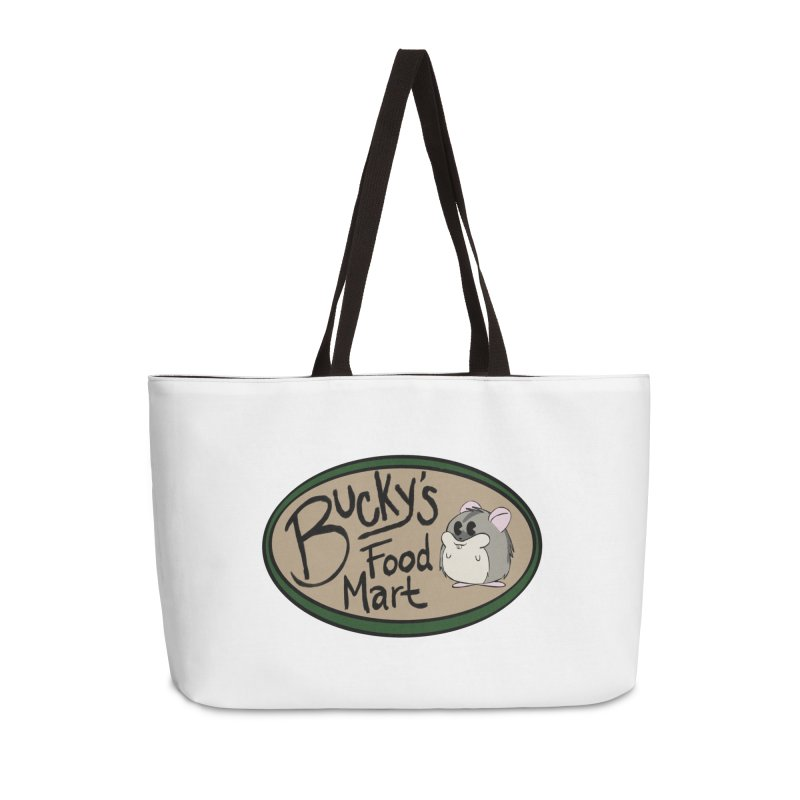 Bucky's Employee shirt Accessories Weekender Bag Bag by Augie's Attic