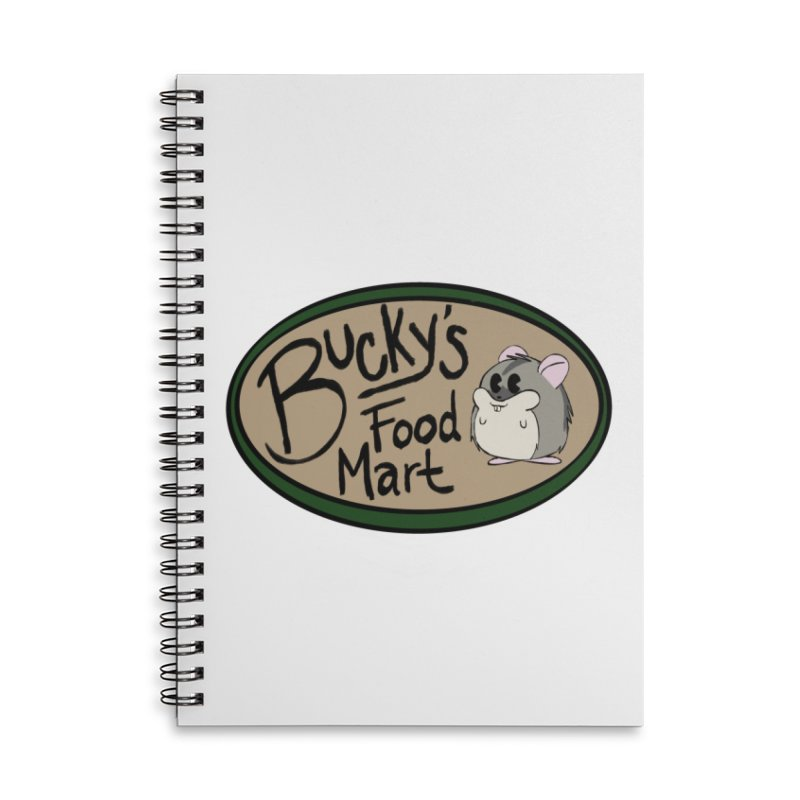Bucky's Employee shirt Accessories Lined Spiral Notebook by Augie's Attic