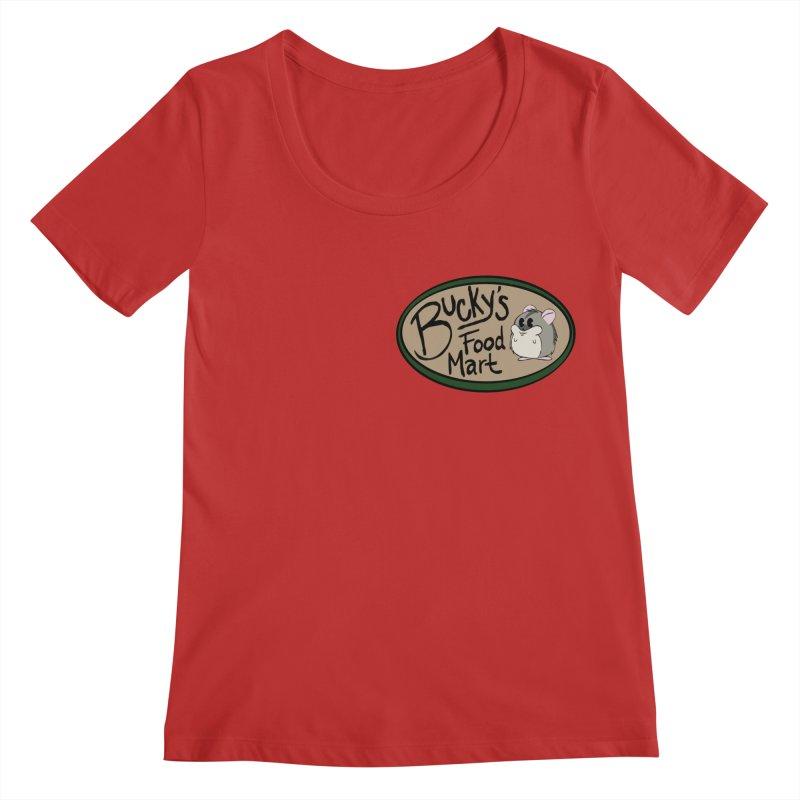 Bucky's Employee shirt Women's Regular Scoop Neck by Augie's Attic