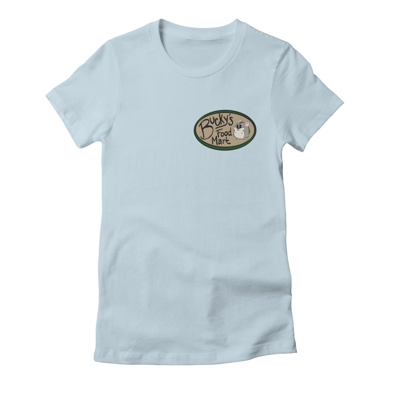 Bucky's Employee shirt Women's Fitted T-Shirt by Augie's Attic