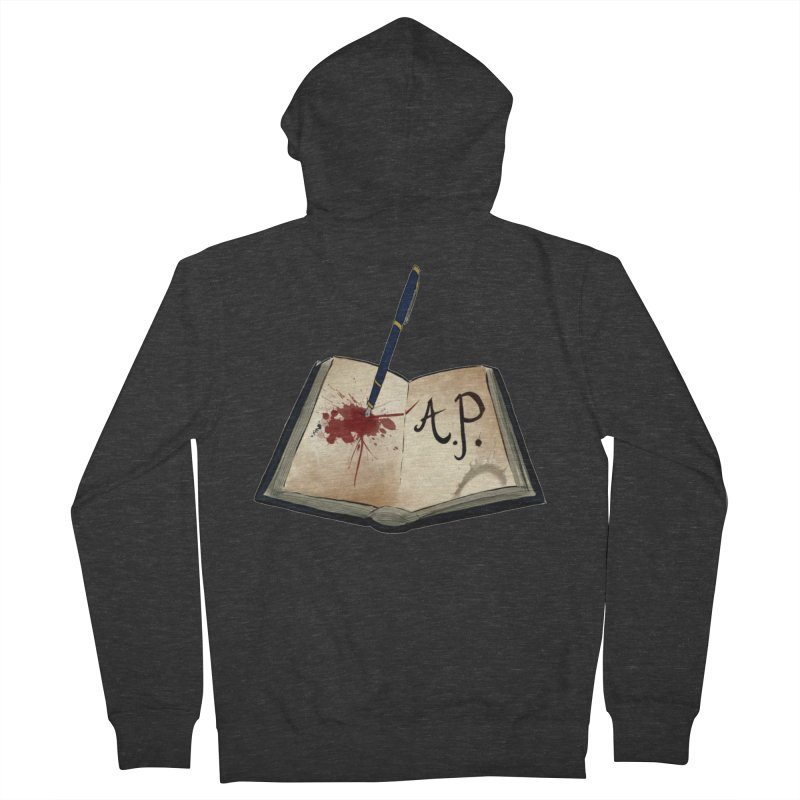 AP Logo ( Designed by Unapologetic Artist) Men's French Terry Zip-Up Hoody by Augie's Attic