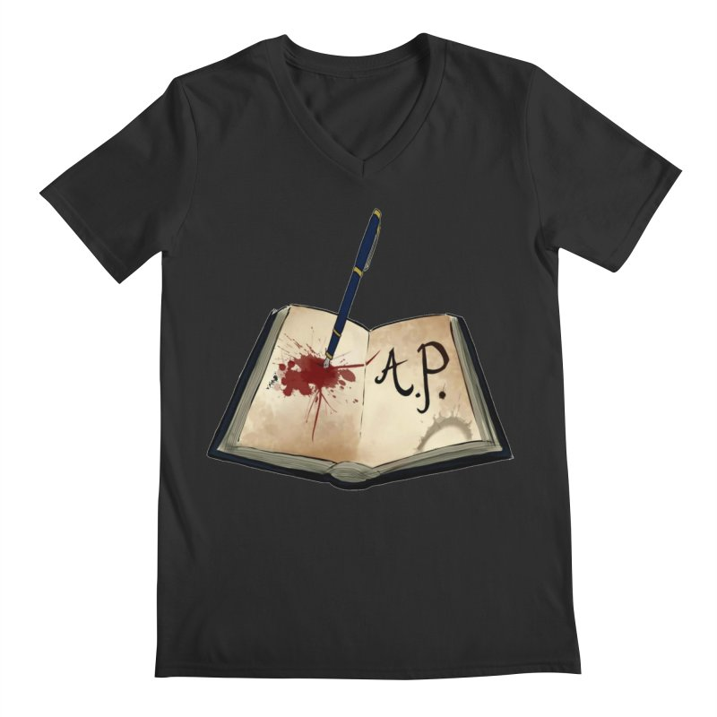AP Logo ( Designed by Unapologetic Artist) Men's Regular V-Neck by Augie's Attic