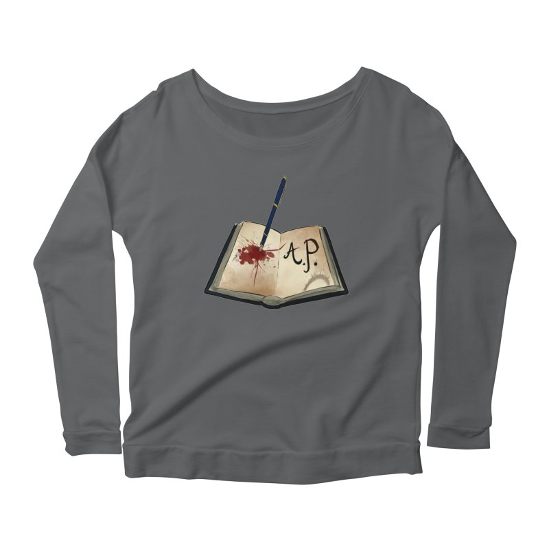 AP Logo ( Designed by Unapologetic Artist) Women's Scoop Neck Longsleeve T-Shirt by Augie's Attic