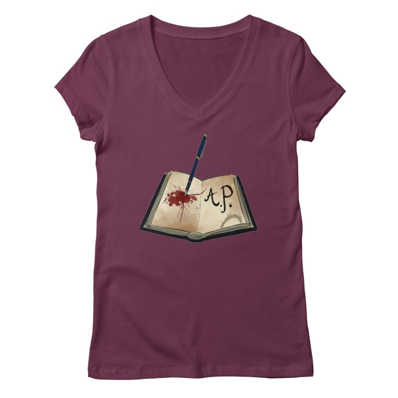AP Logo ( Designed by Unapologetic Artist) Women's Regular V-Neck by Augie's Attic