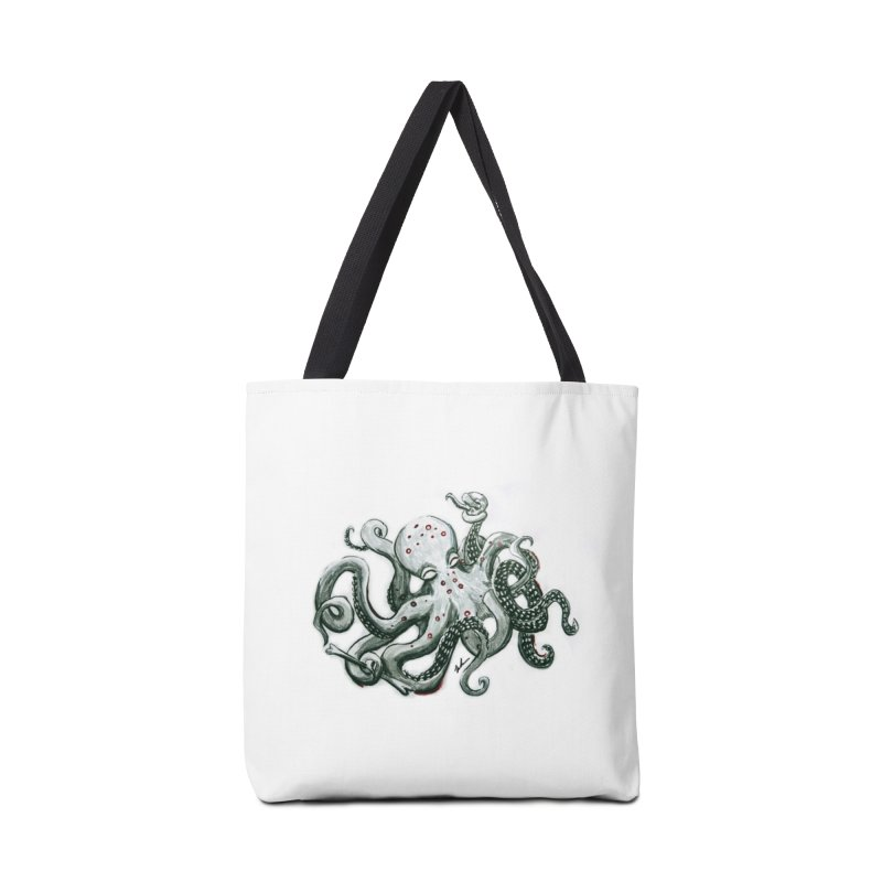 Deep Dive Octopus (Designed by Rogue Duck Arts) Accessories Tote Bag Bag by Augie's Attic