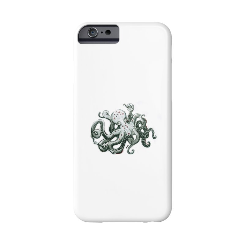 Deep Dive Octopus (Designed by Rogue Duck Arts) Accessories Phone Case by Augie's Attic