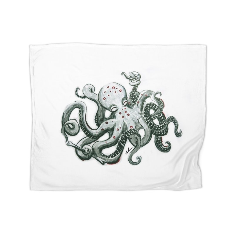 Deep Dive Octopus (Designed by Rogue Duck Arts) Home Blanket by Augie's Attic