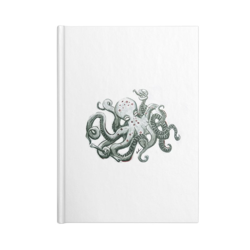 Deep Dive Octopus (Designed by Rogue Duck Arts) Accessories Blank Journal Notebook by Augie's Attic