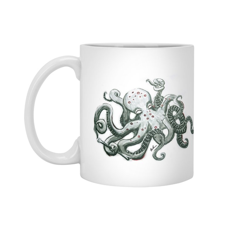 Deep Dive Octopus (Designed by Rogue Duck Arts) Accessories Mug by Augie's Attic