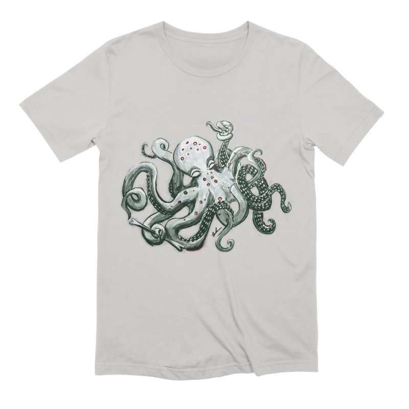 Deep Dive Octopus (Designed by Rogue Duck Arts) Men's Extra Soft T-Shirt by Augie's Attic