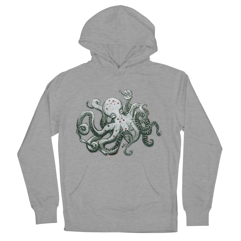 Deep Dive Octopus (Designed by Rogue Duck Arts) Women's Pullover Hoody by Augie's Attic