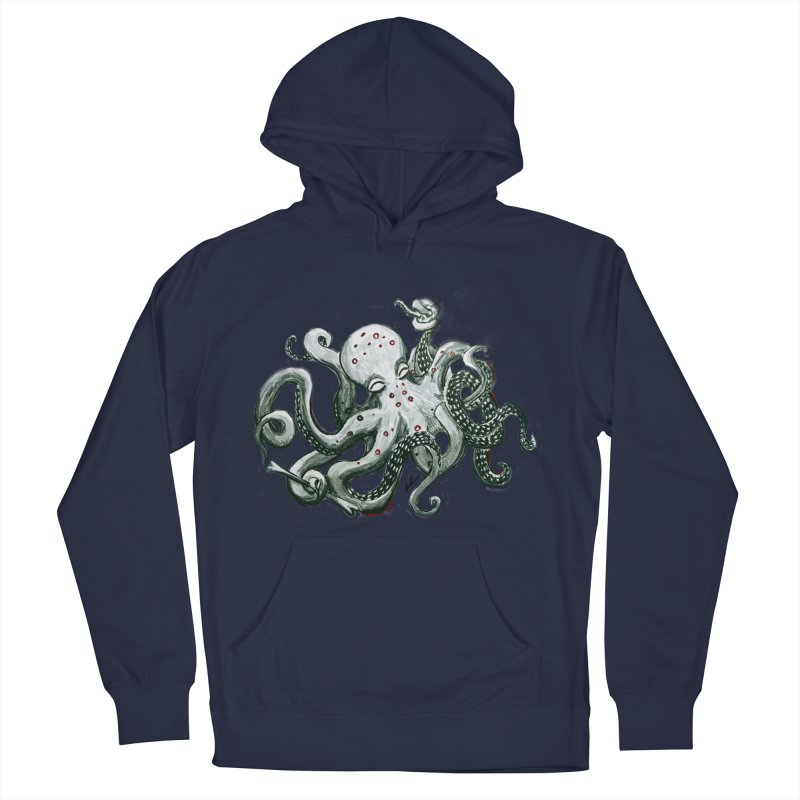 Deep Dive Octopus (Designed by Rogue Duck Arts) Men's Pullover Hoody by Augie's Attic
