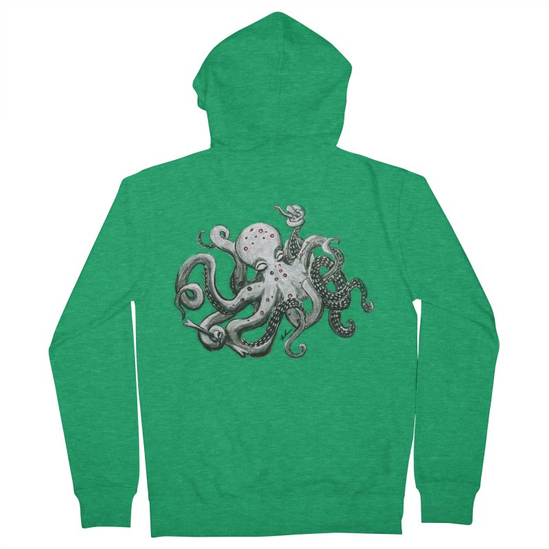 Deep Dive Octopus (Designed by Rogue Duck Arts) Men's Zip-Up Hoody by Augie's Attic