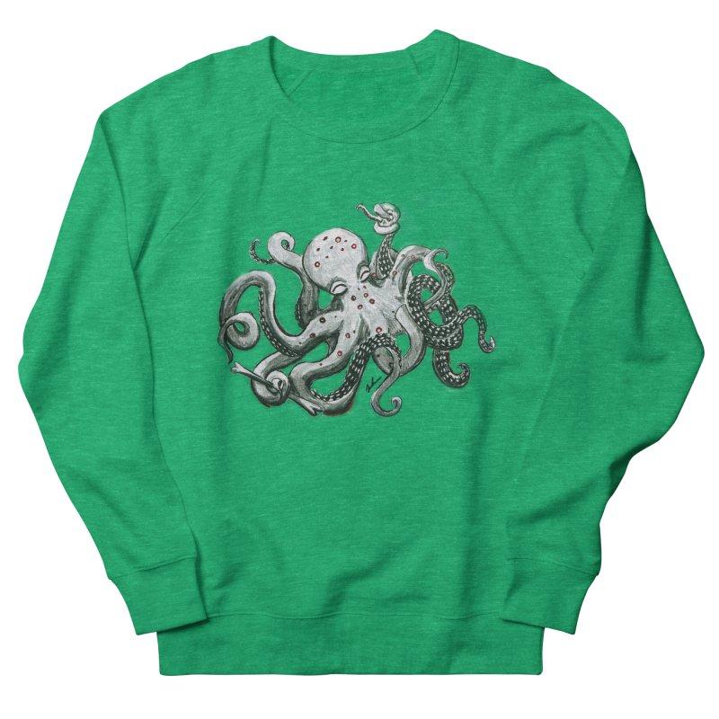 Deep Dive Octopus (Designed by Rogue Duck Arts) Women's Sweatshirt by Augie's Attic