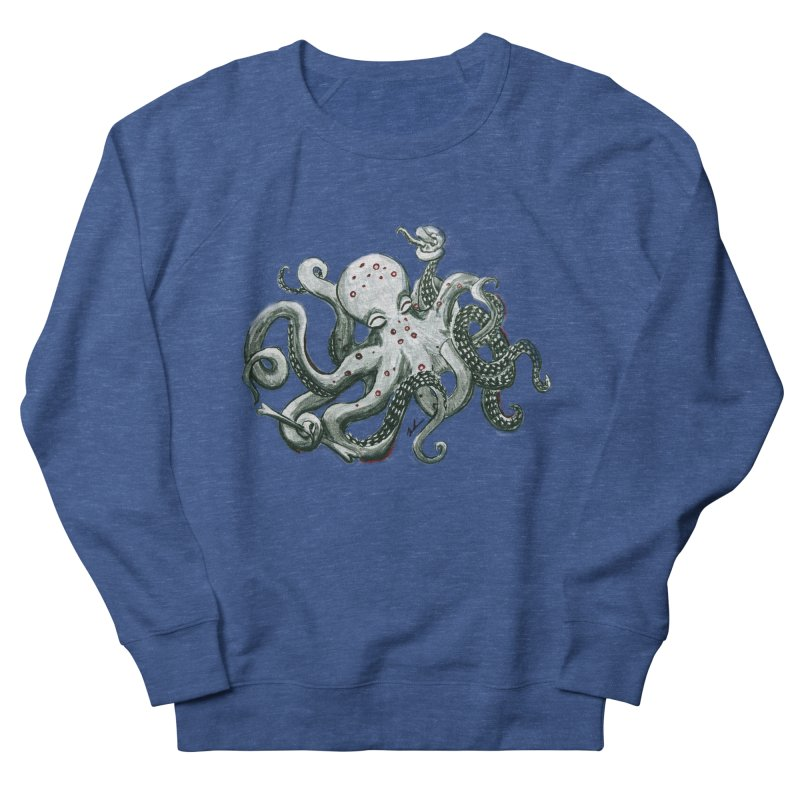 Deep Dive Octopus (Designed by Rogue Duck Arts) Men's Sweatshirt by Augie's Attic