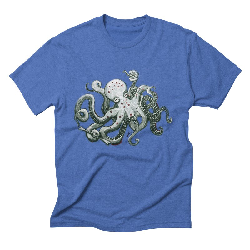 Deep Dive Octopus (Designed by Rogue Duck Arts) Men's T-Shirt by Augie's Attic