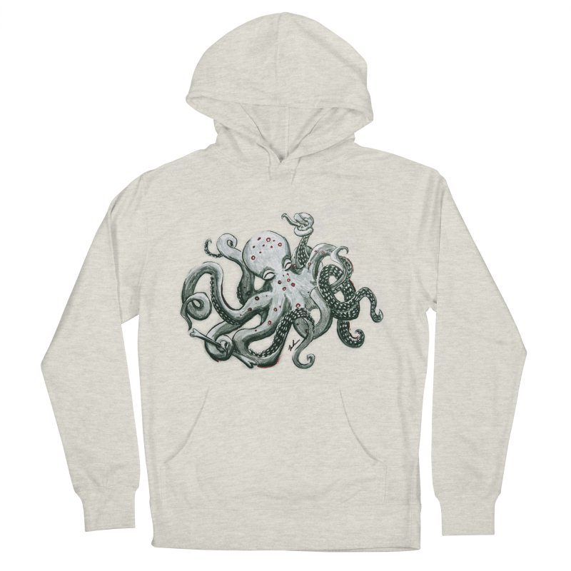 Deep Dive Octopus (Designed by Rogue Duck Arts) Men's French Terry Pullover Hoody by Augie's Attic