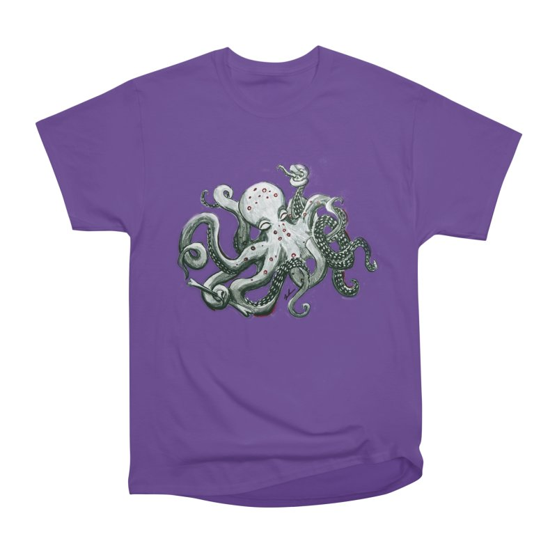 Deep Dive Octopus (Designed by Rogue Duck Arts) Women's Heavyweight Unisex T-Shirt by Augie's Attic