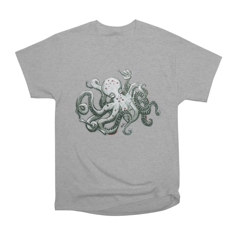 Deep Dive Octopus (Designed by Rogue Duck Arts) Men's Heavyweight T-Shirt by Augie's Attic