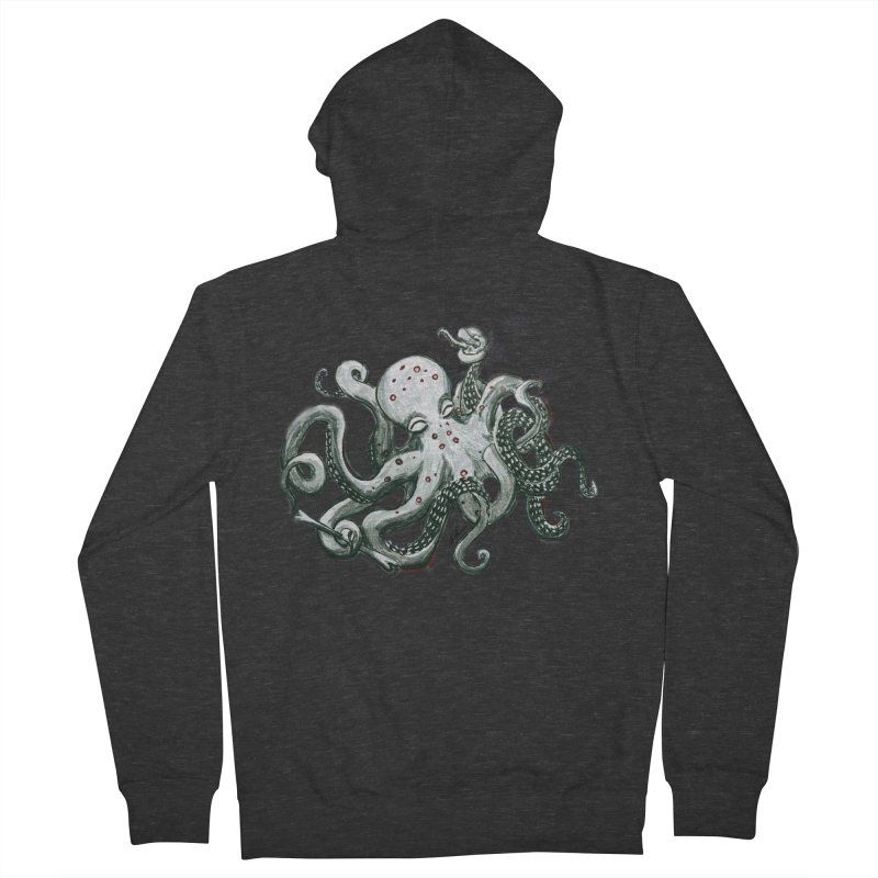 Deep Dive Octopus (Designed by Rogue Duck Arts) Women's French Terry Zip-Up Hoody by Augie's Attic