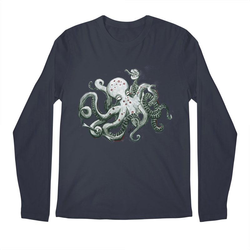 Deep Dive Octopus (Designed by Rogue Duck Arts) Men's Regular Longsleeve T-Shirt by Augie's Attic