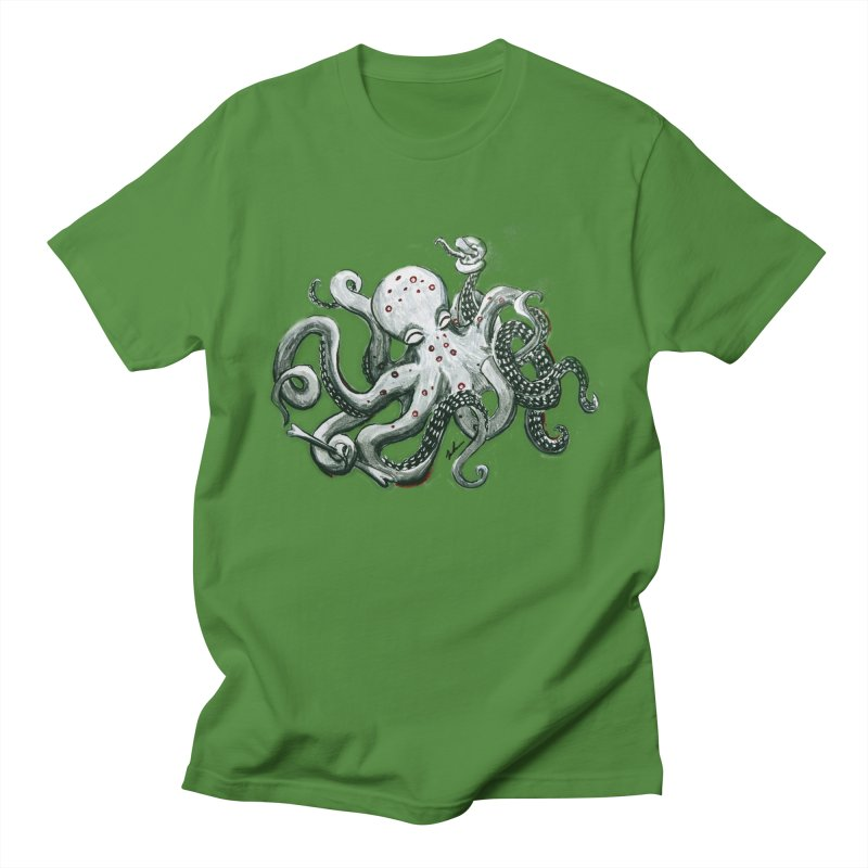 Deep Dive Octopus (Designed by Rogue Duck Arts) Men's Regular T-Shirt by Augie's Attic