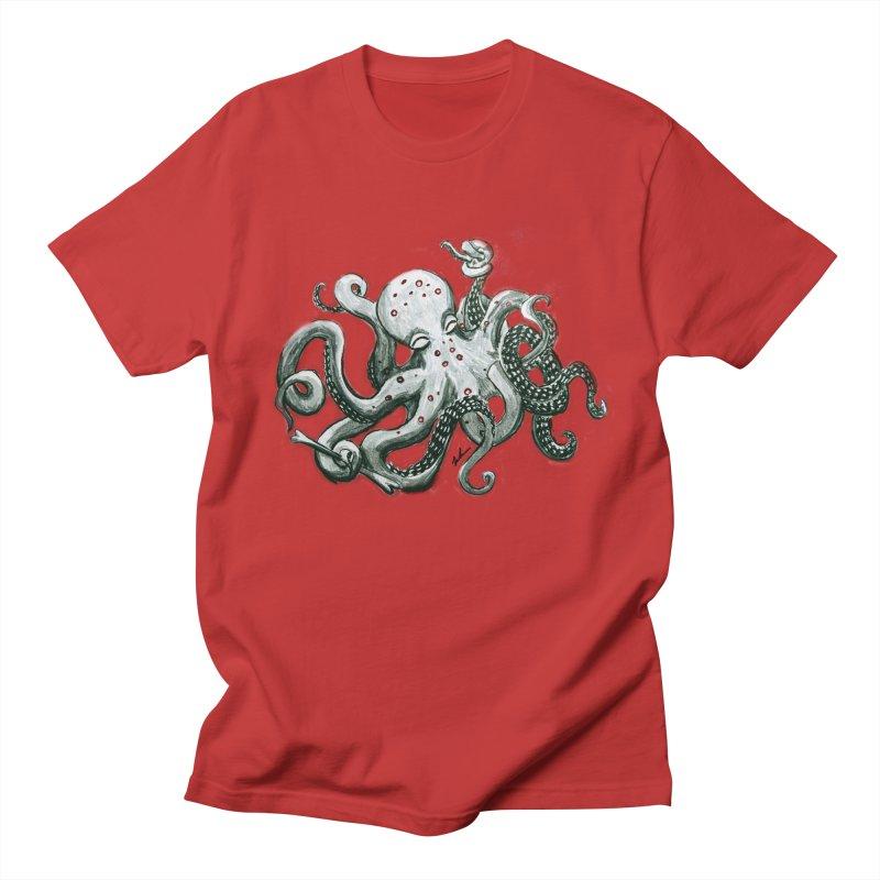 Deep Dive Octopus (Designed by Rogue Duck Arts) Women's Regular Unisex T-Shirt by Augie's Attic