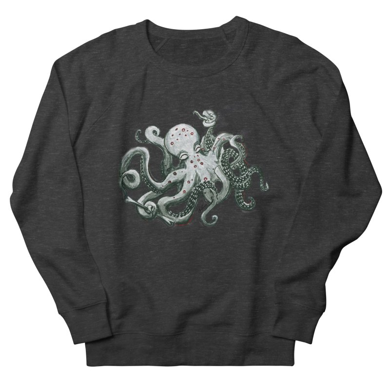 Deep Dive Octopus (Designed by Rogue Duck Arts) Women's French Terry Sweatshirt by Augie's Attic