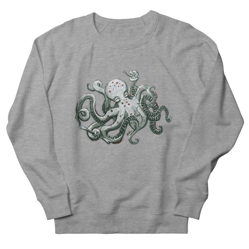 Deep Dive Octopus (Designed by Rogue Duck Arts) Men's French Terry Sweatshirt by Augie's Attic