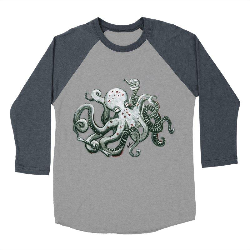 Deep Dive Octopus (Designed by Rogue Duck Arts) Women's Baseball Triblend Longsleeve T-Shirt by Augie's Attic