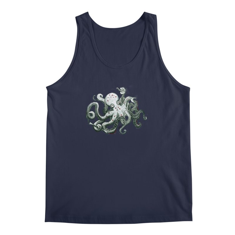 Deep Dive Octopus (Designed by Rogue Duck Arts) Men's Regular Tank by Augie's Attic