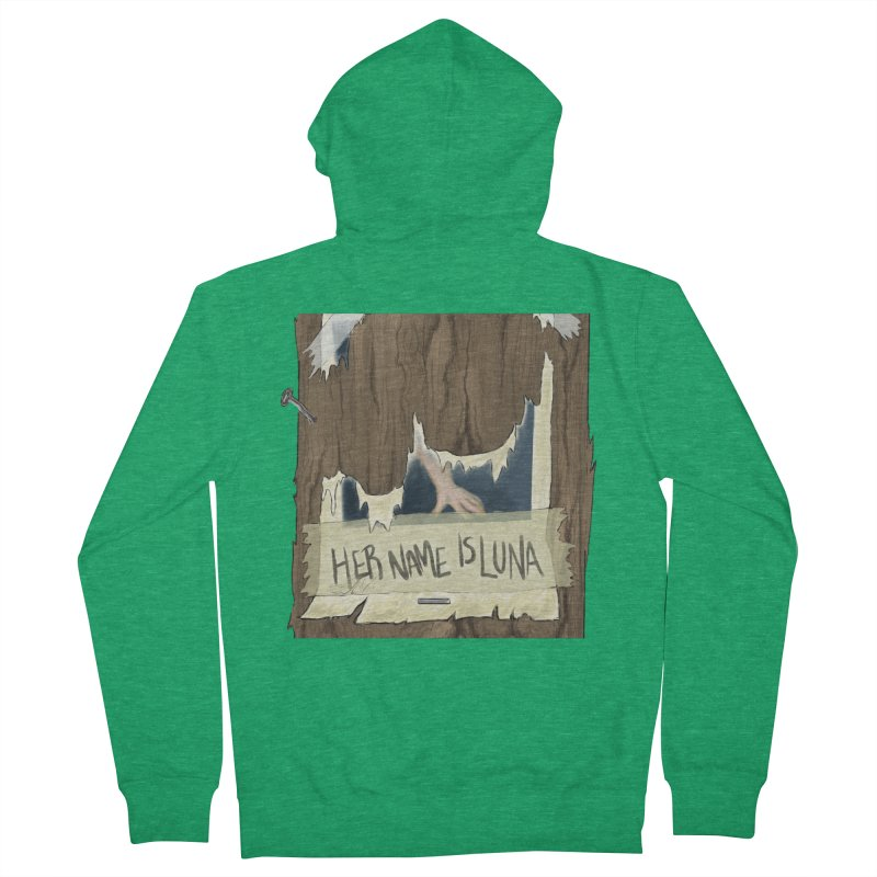 Her Name is Luna (Designed by Unapologetic Artist) Men's Zip-Up Hoody by Augie's Attic