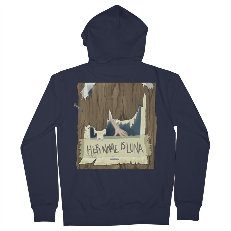 Her Name is Luna (Designed by Unapologetic Artist) Women's French Terry Zip-Up Hoody by Augie's Attic