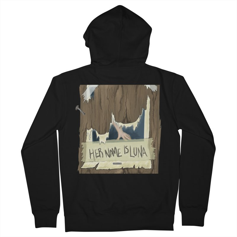 Her Name is Luna (Designed by Unapologetic Artist) Men's French Terry Zip-Up Hoody by Augie's Attic