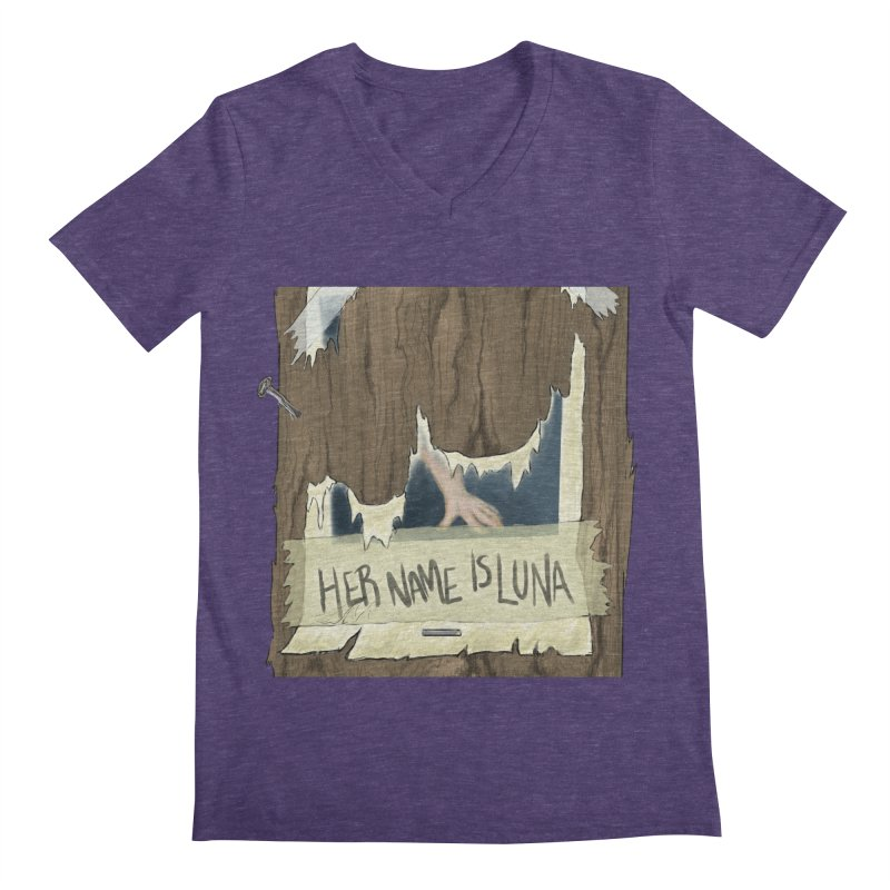 Her Name is Luna (Designed by Unapologetic Artist) Men's Regular V-Neck by Augie's Attic