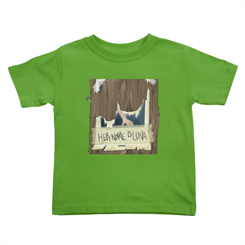 Her Name is Luna (Designed by Unapologetic Artist) Kids Toddler T-Shirt by Augie's Attic