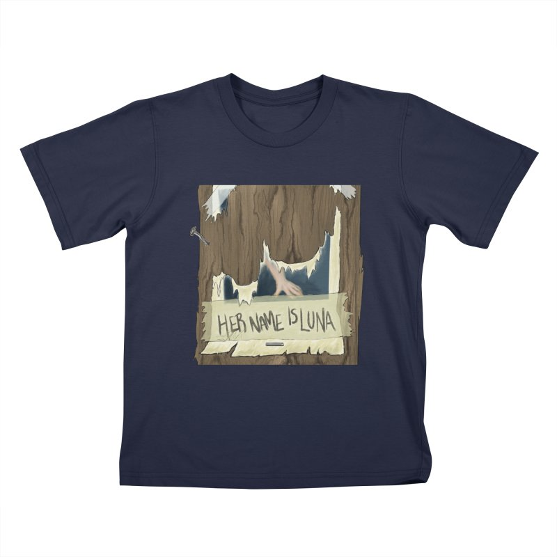 Her Name is Luna (Designed by Unapologetic Artist) Kids T-Shirt by Augie's Attic